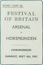 arsenal vs horsmonden festival of britain